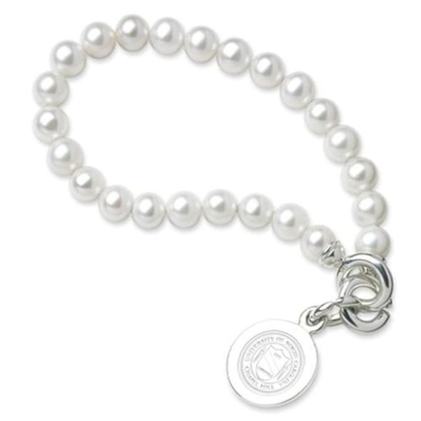 UNC Pearl Bracelet with Sterling Silver Charm