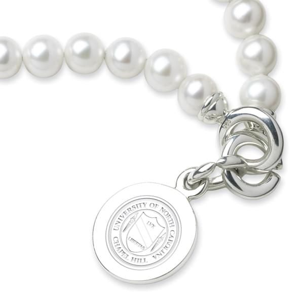 UNC Pearl Bracelet with Sterling Silver Charm - Image 2