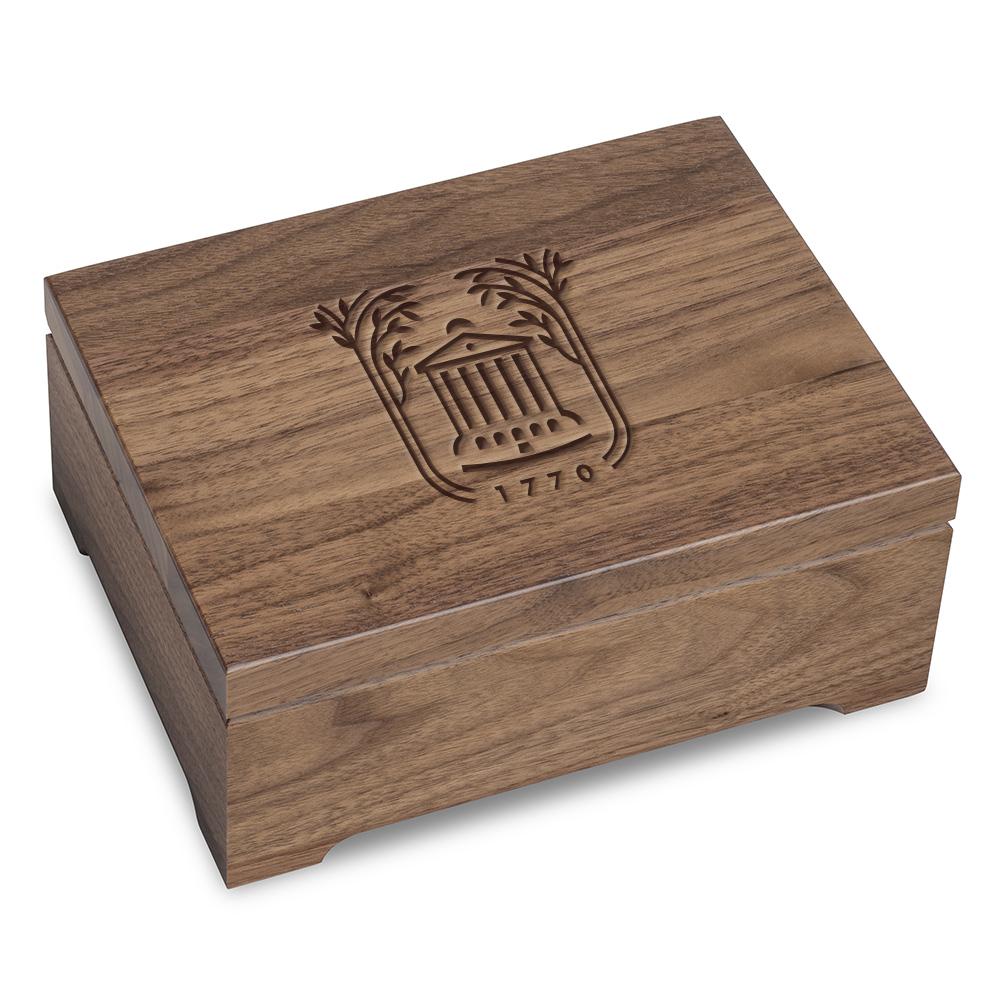 College of Charleston Solid Walnut Desk Box