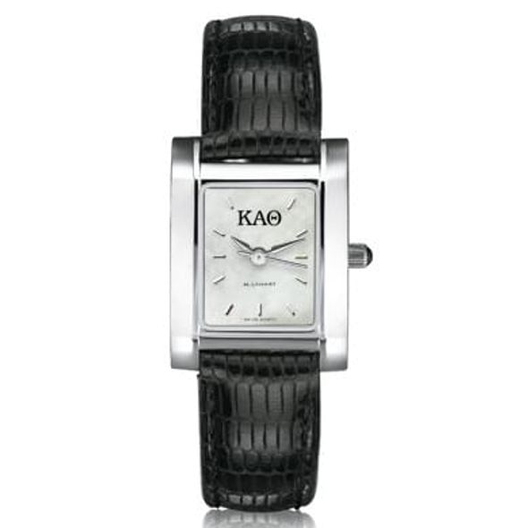 KAT Women's Mother of Pearl Quad Watch with Leather Strap