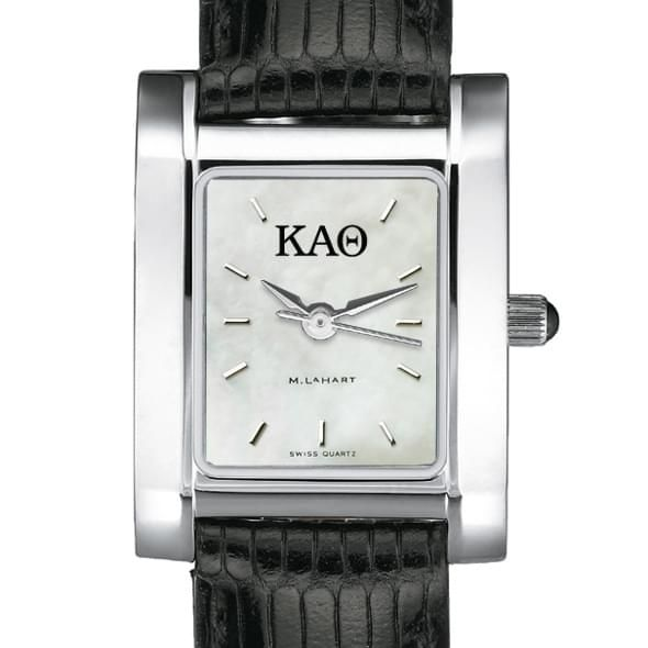 KAT Women's Mother of Pearl Quad Watch with Leather Strap - Image 2