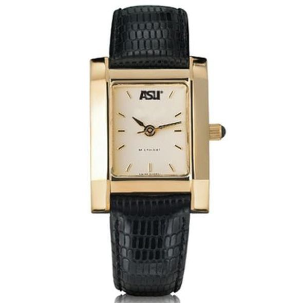 ASU Women's Gold Quad Watch with Leather Strap - Image 2