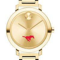 Southern Methodist University Women's Movado Gold Bold 34