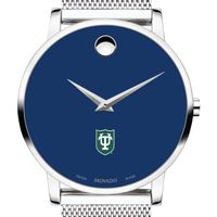 Tulane University Men's Movado Museum with Blue Dial & Mesh Bracelet