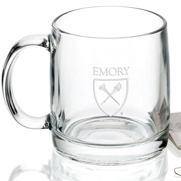 Emory University 13 oz Glass Coffee Mug - Image 2