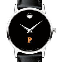 Princeton University Women's Movado Museum with Leather Strap