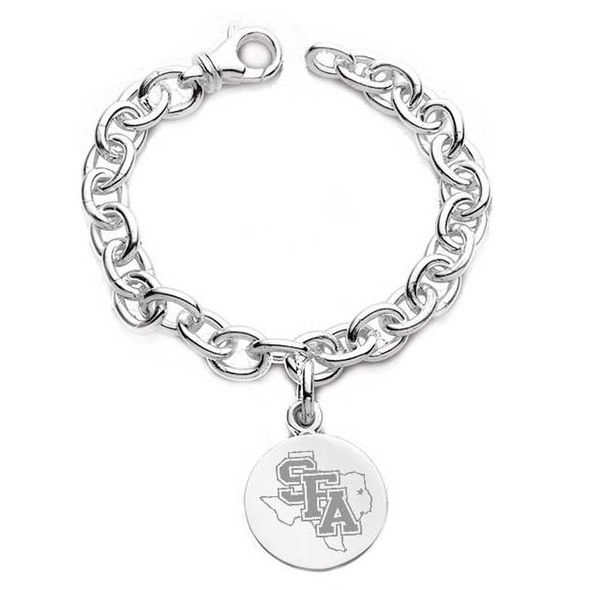SFASU Sterling Silver Charm Bracelet