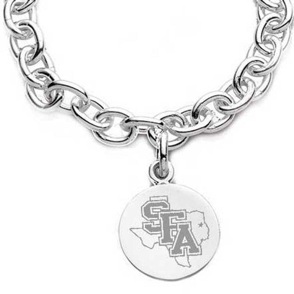 SFASU Sterling Silver Charm Bracelet - Image 2