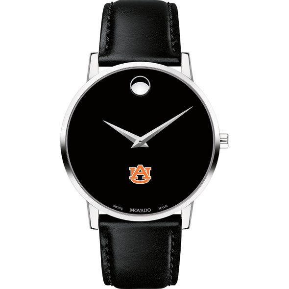 Auburn University Men's Movado Museum with Leather Strap - Image 2