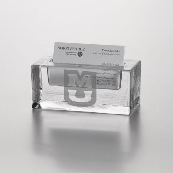 University of Missouri Glass Business Cardholder by Simon Pearce