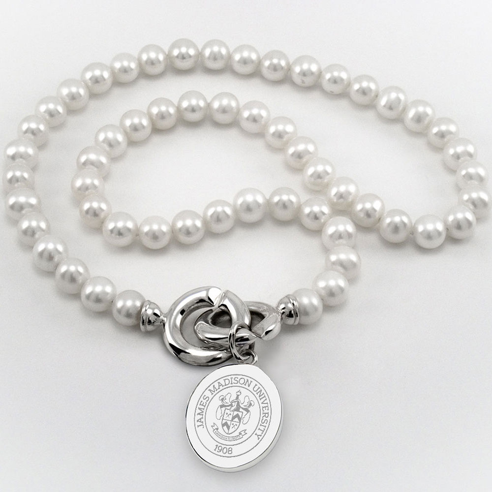 James Madison Pearl Necklace with Sterling Silver Charm