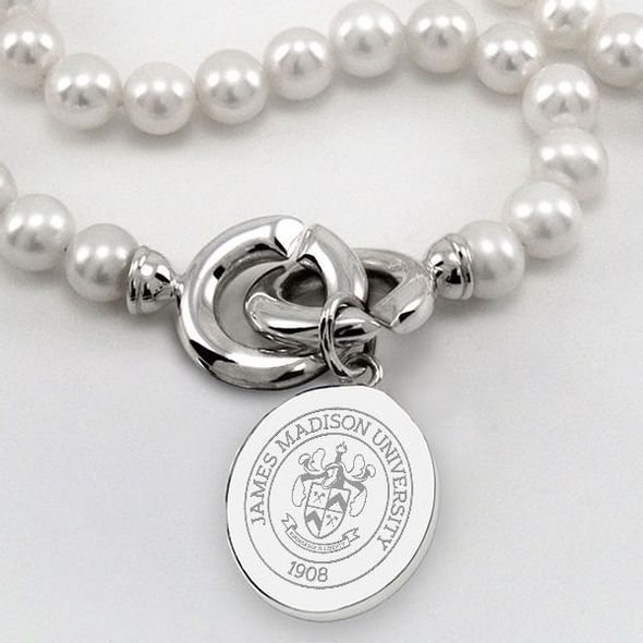 James Madison Pearl Necklace with Sterling Silver Charm - Image 2
