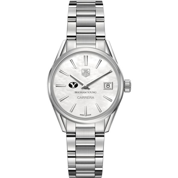 Brigham Young University Women's TAG Heuer Steel Carrera with MOP Dial - Image 2