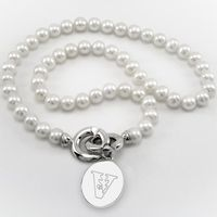 Vanderbilt Pearl Necklace with Sterling Silver Charm