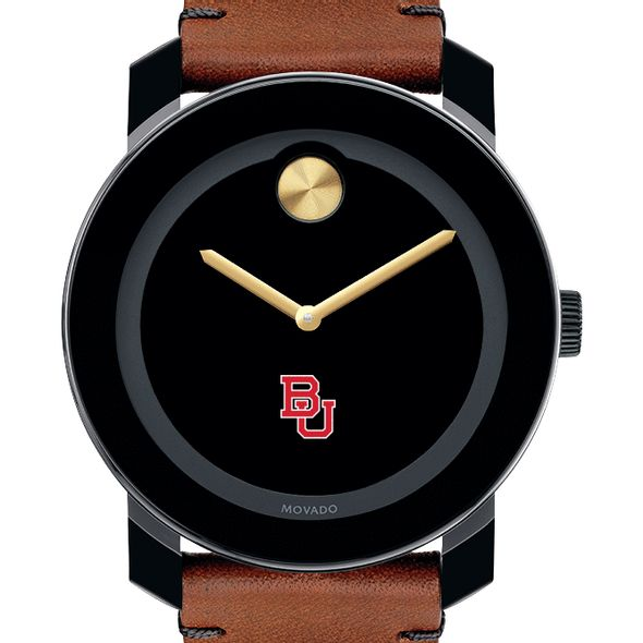 Boston University Men's Movado BOLD with Brown Leather Strap