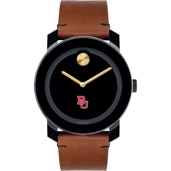 Boston University Men's Movado BOLD with Brown Leather Strap - Image 2