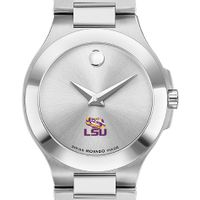 LSU Women's Movado Collection Stainless Steel Watch with Silver Dial