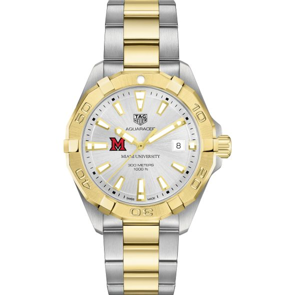 Miami University Men's TAG Heuer Two-Tone Aquaracer - Image 2