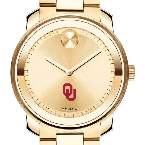 University of Oklahoma Men's Movado Gold Bold