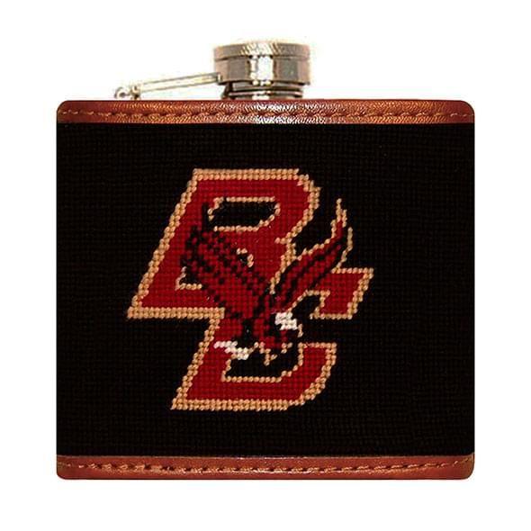 Boston College Needlepoint-Encased Flask