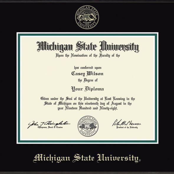 Michigan State Diploma Frame, the Fidelitas - Image 2