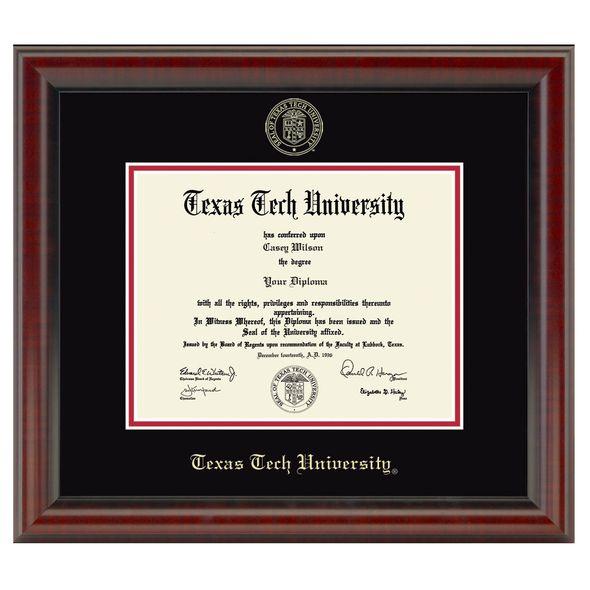 Texas Tech Diploma Frame, the Fidelitas