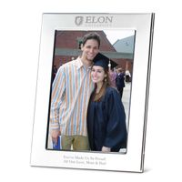Elon Polished Pewter 5x7 Picture Frame