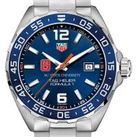 North Carolina State Men's TAG Heuer Formula 1 with Blue Dial & Bezel