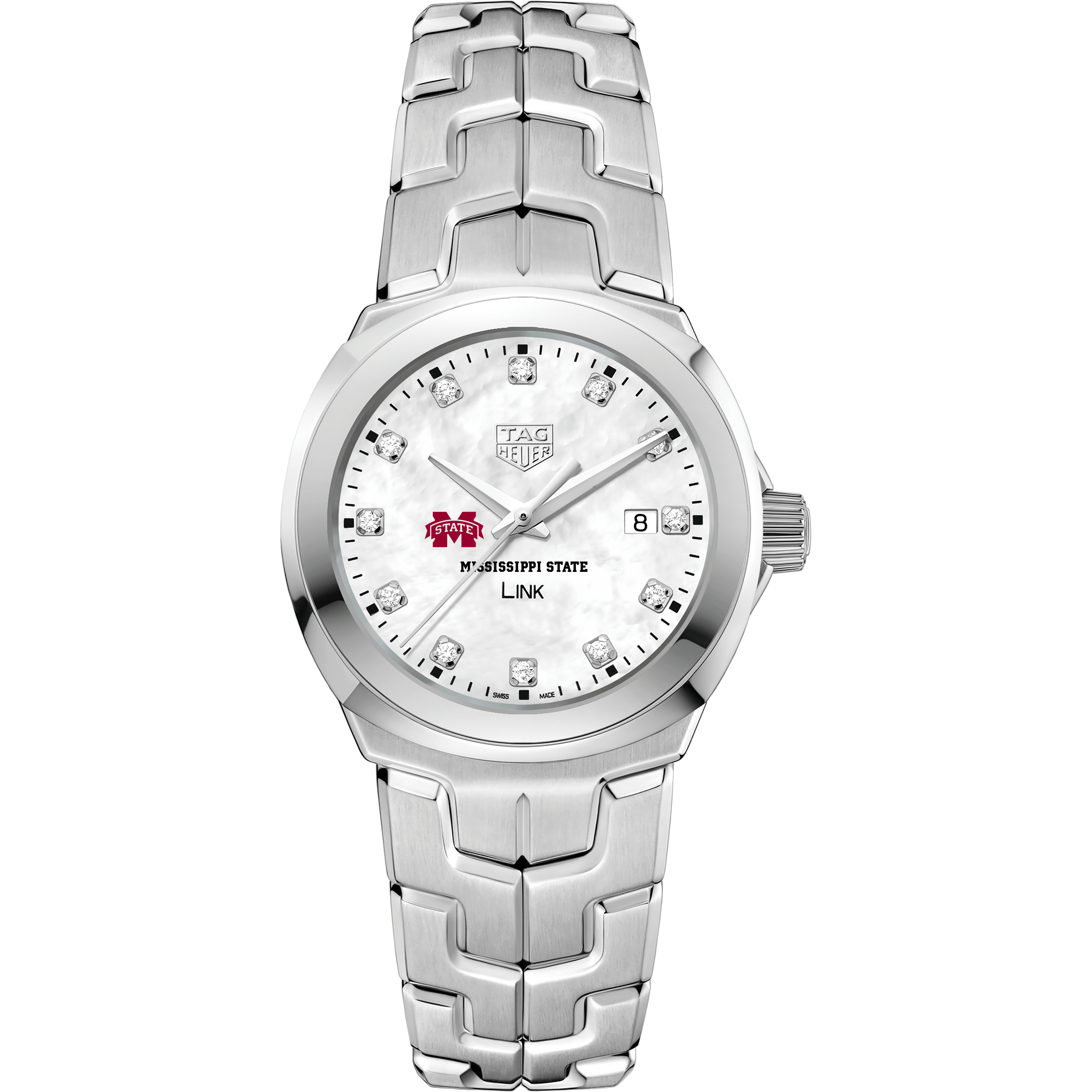 Mississippi State TAG Heuer Diamond Dial LINK for Women - Image 2