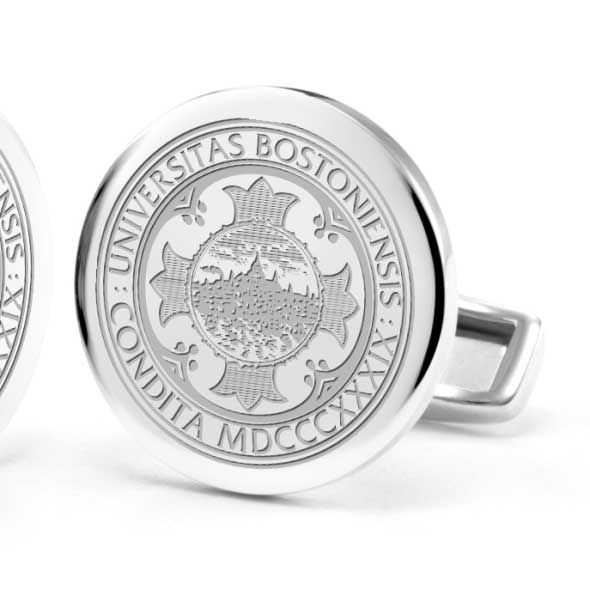 Boston University Cufflinks in Sterling Silver - Image 2