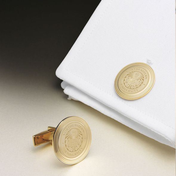 Northeastern 14K Gold Cufflinks