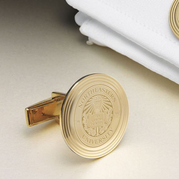 Northeastern 14K Gold Cufflinks - Image 2
