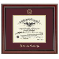 Boston College Diploma Frame, the Fidelitas