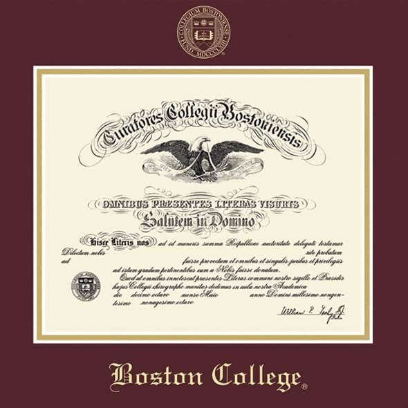 Boston College Diploma Frame, the Fidelitas - Image 2