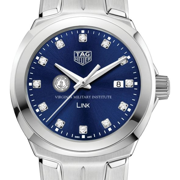 Virginia Military Institute Women's TAG Heuer Link with Blue Diamond Dial