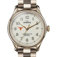 UT Austin Shinola Watch, The Vinton 38mm Ivory Dial