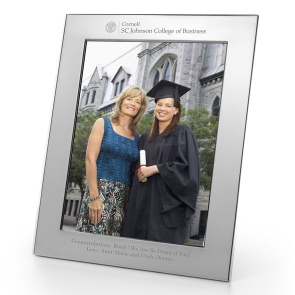 SC Johnson College Polished Pewter 8x10 Picture Frame - Image 1