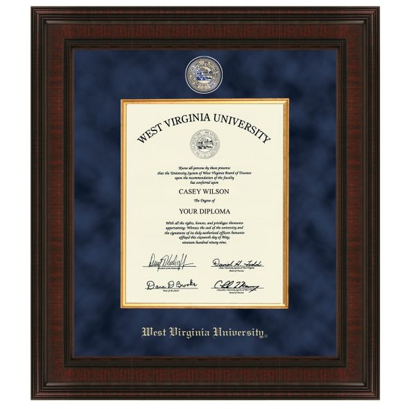 West Virginia University Diploma Frame - Excelsior at M.LaHart & Co.
