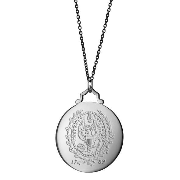 Georgetown Monica Rich Kosann Round Charm in Silver with Stone - Image 3