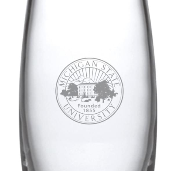 Michigan State University Glass Addison Vase by Simon Pearce - Image 2