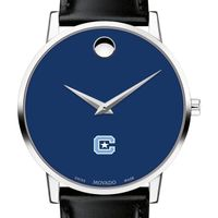 Citadel Men's Movado Museum with Blue Dial & Leather Strap