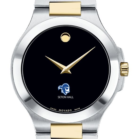 Seton Hall Men's Movado Collection Two-Tone Watch with Black Dial - Image 1