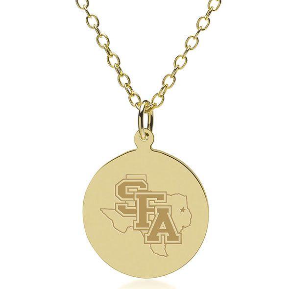 SFASU 18K Gold Pendant & Chain - Image 1