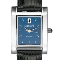Stanford Women's Blue Quad Watch with Leather Strap