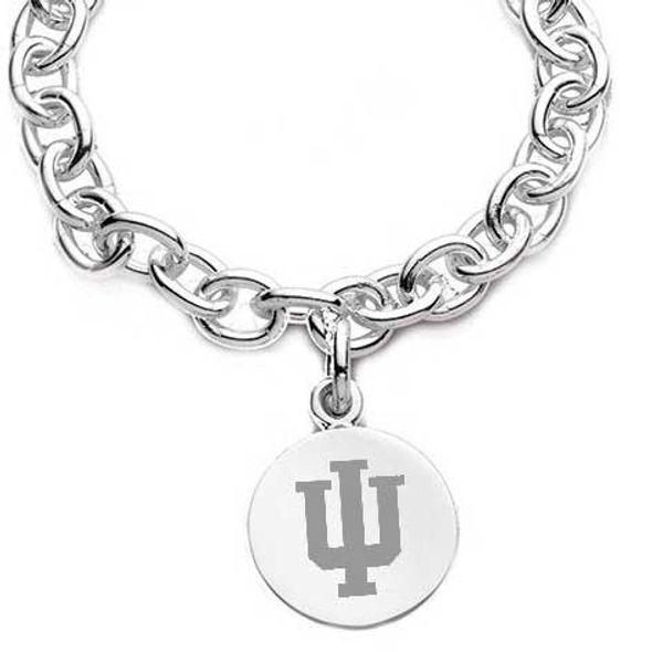 Indiana University Sterling Silver Charm Bracelet - Image 2