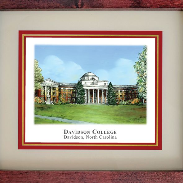 Davidson College Eglomise Desk Box - Image 2