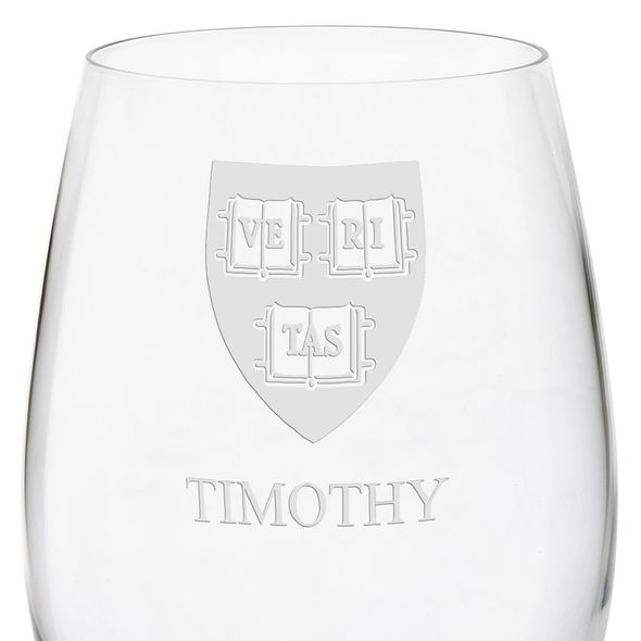 Harvard University Red Wine Glasses - Set of 2 - Image 3