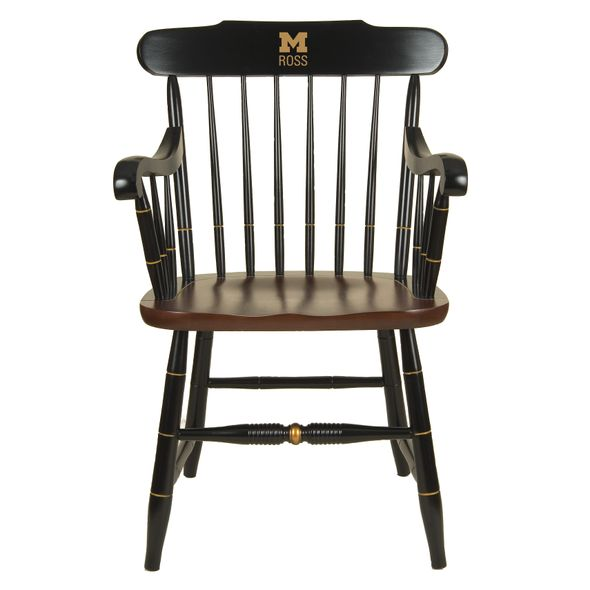 Michigan Ross Captain's Chair by Hitchcock - Image 1