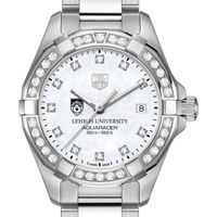 Lehigh Women's TAG Heuer Steel Aquaracer with MOP Diamond Dial & Diamond Bezel