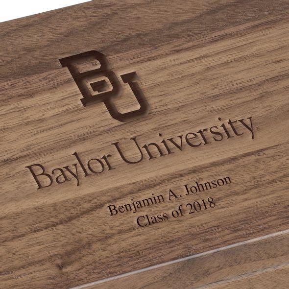 Baylor University Solid Walnut Desk Box - Image 3